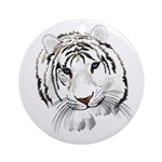 White Tiger Ornament (Round)