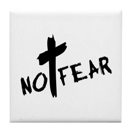 No Fear Tile Coaster