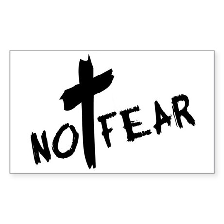No Fear Rectangle Sticker