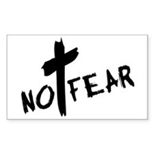No Fear Rectangle Decal