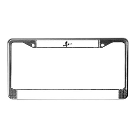 No Fear License Plate Frame