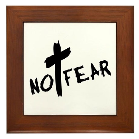 No Fear Framed Tile
