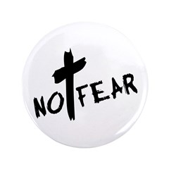 "No Fear 3.5"" Button"