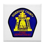 Riverside County Fire Tile Coaster