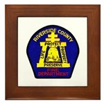 Riverside County Fire Framed Tile
