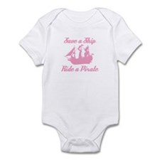Save a Ship, Ride A Pirate Infant Bodysuit