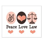 Peace Love Law School Lawyer Small Poster