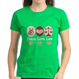 Peace Love Law School Lawyer Tee