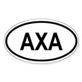 Anguilla Oval Decal