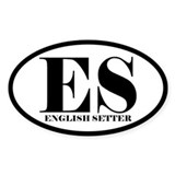 ES Abbreviation English Setter Decal