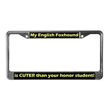 Honor Student English Foxhound License Plate Frame