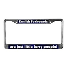 Furry People English Foxhound License Plate Frame