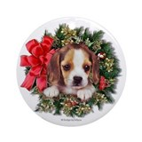 Beagle Puppy Ornament (Round)