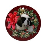 Saint Bernard Puppy Ornament (Round)