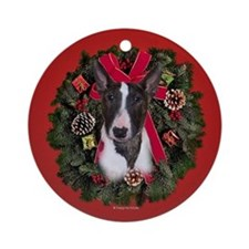 Mini Bull Terrier Ornament (Round)
