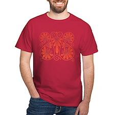 Flower Fan Design T-Shirt