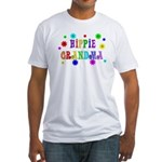 Hippie Grandma Fitted T-Shirt