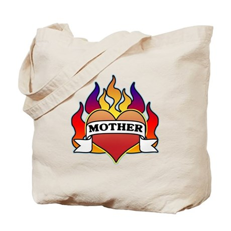 Mother Heart Tattoo Tote Bag