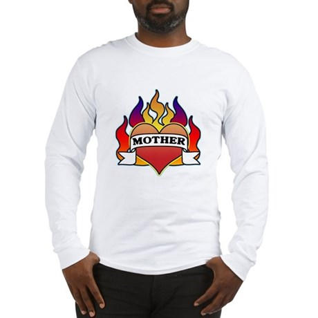 Mother Heart Tattoo Long Sleeve T-Shirt