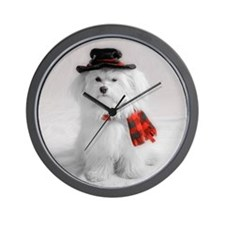 Unique Dog maltese Wall Clock