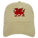 Y Ddraig Goch in Black and Red Cap