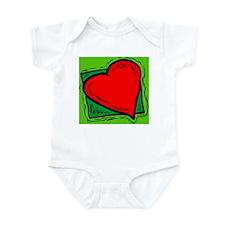 Love heart fertility Infant Bodysuit