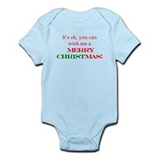 Wish me a Merry Christmas Infant Bodysuit