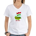 Hungary for love Women's V-Neck T-Shirt