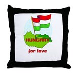 Hungary for love Throw Pillow
