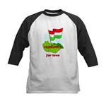 Hungary for love Kids Baseball Jersey
