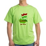 Hungary for love Green T-Shirt