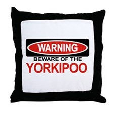 YORKIPOO Throw Pillow