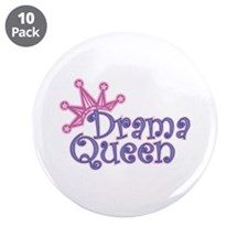 "Drama Queen 3.5"" Button (10 pack)"