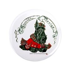 "Scottish Terrier Celtic Dog 3.5"" Button"