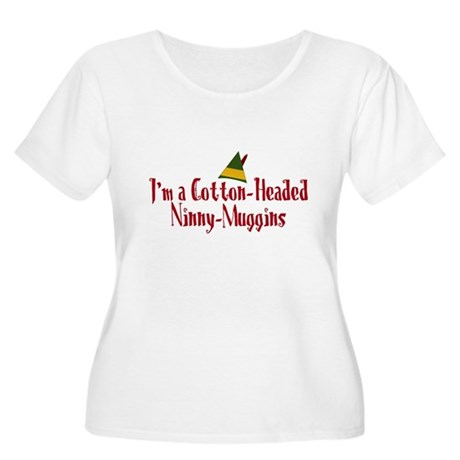 Cotton-Headed Ninny-Muggins Womens Plus Size Scoo