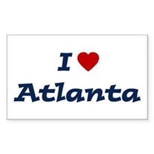 I HEART ATLANTA Rectangle Decal