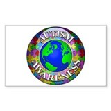 Autism Worldwide Rectangle Decal