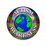 "Autism Worldwide 3.5"" Button (100 pack)"