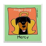 Mercy, Doberman Dog Angel Memorial Tile