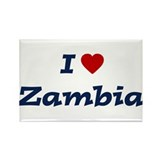 I HEART ZAMBIA Rectangle Magnet