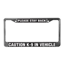 K-9 in Vehicle License Plate Frame