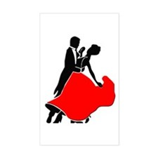 Shall We Dance Rectangle Decal