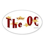 Love The OC? Oval Sticker
