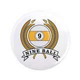 "Nine Ball Yellow Emblem 3.5"" Button"