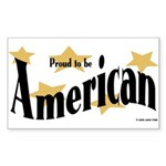 Proud American Rectangle Sticker