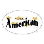 Proud American Oval Sticker