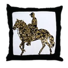 Paso Fino Gold Throw Pillow