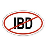 IBD Oval Decal