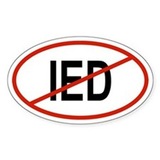 IED Oval Decal