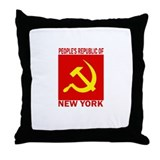 People's Republic of New York Throw Pillow